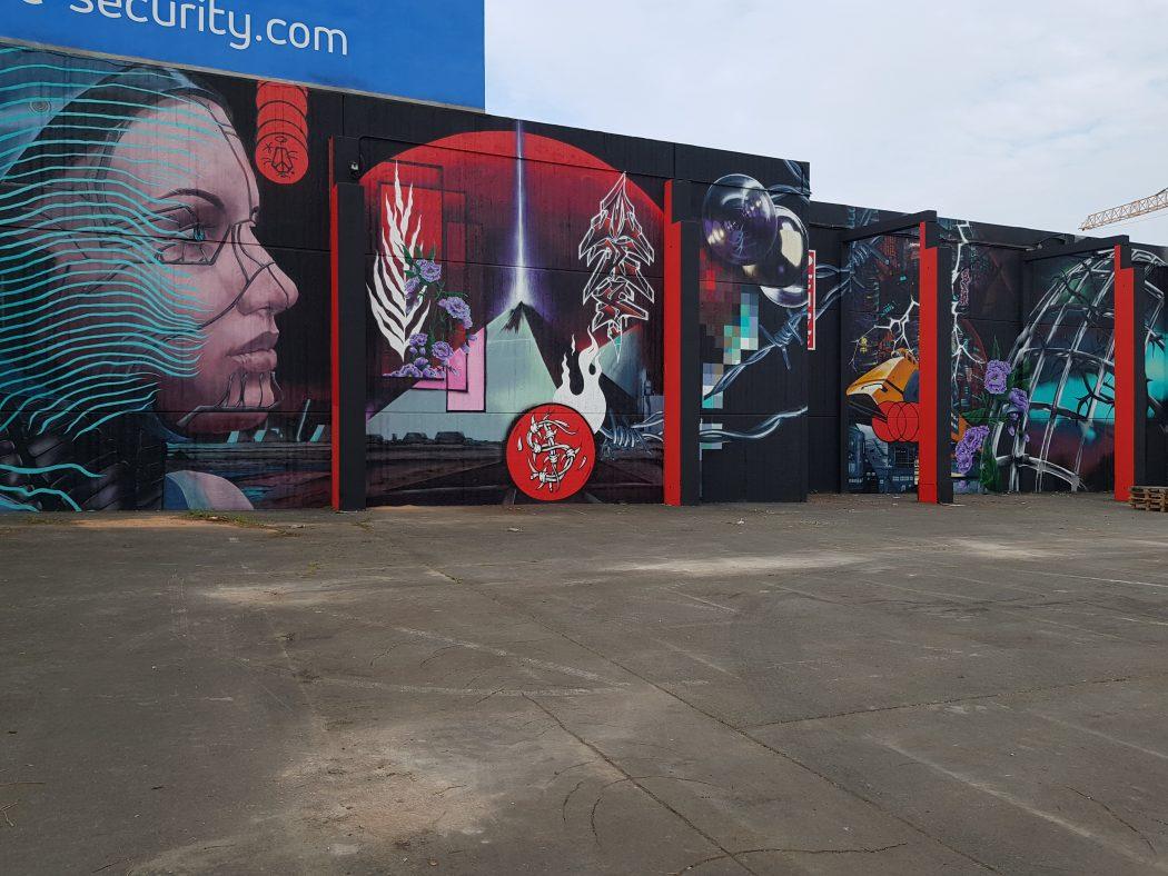 Das Foto zeigt ein dystopisches Graffiti am Dortmunder U