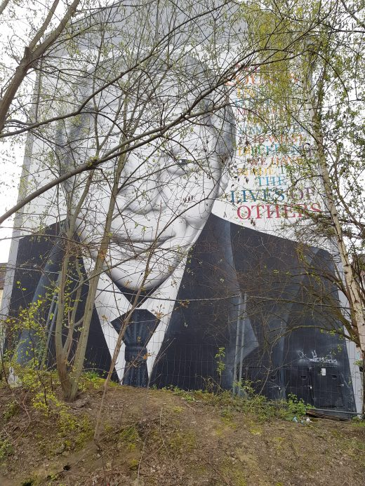 Das Foto zeigt ein Graffiti von Nelson Mandela in Dortmuner