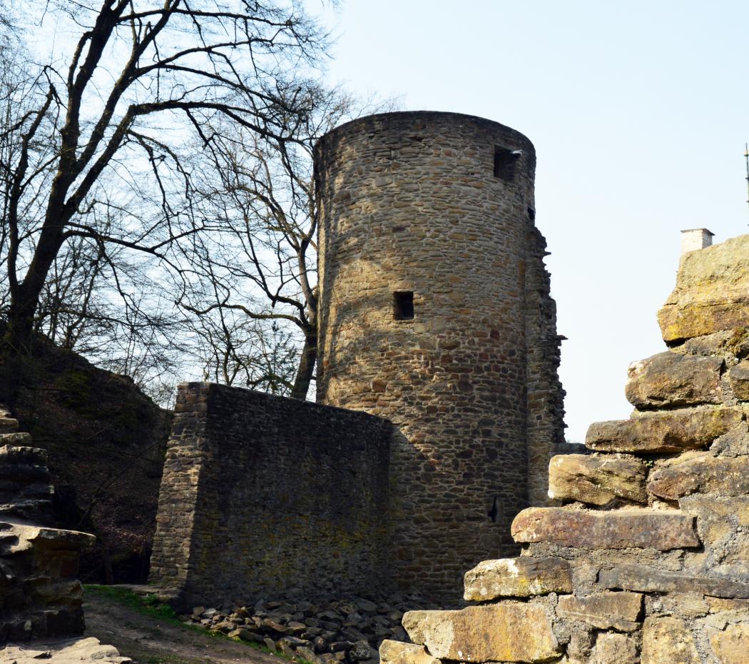 Das Foto zeigt die Burgruine Hardenstein in Witten