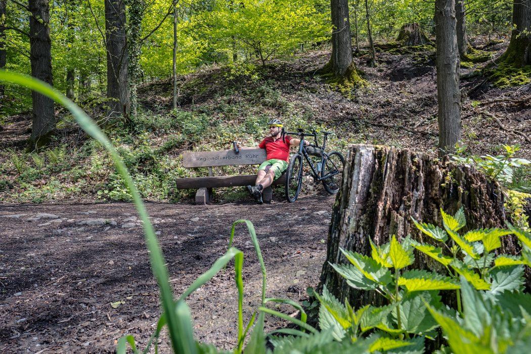 Das Foto zeigt Jochen im Oefter Wald in Essen