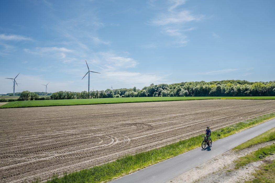 Das Foto zeigt Jochen auf der Zechenbahn Richtung Ahlen