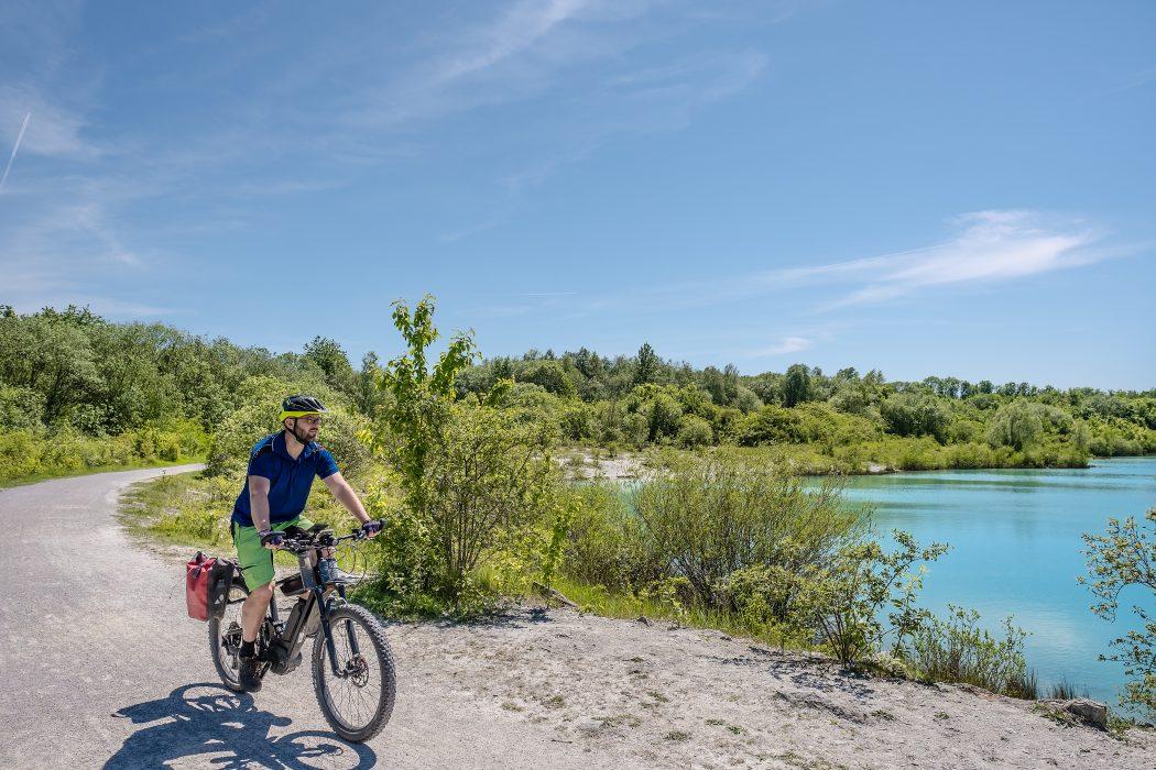 Das Foto zeigt Jochen an der Blauen Lagune bei Beckum