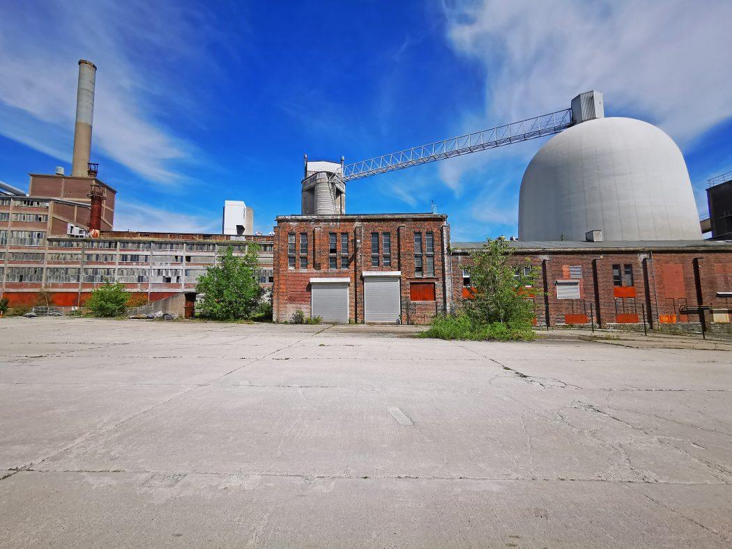 Das Foto zeigt das Zementwerk Mersmann