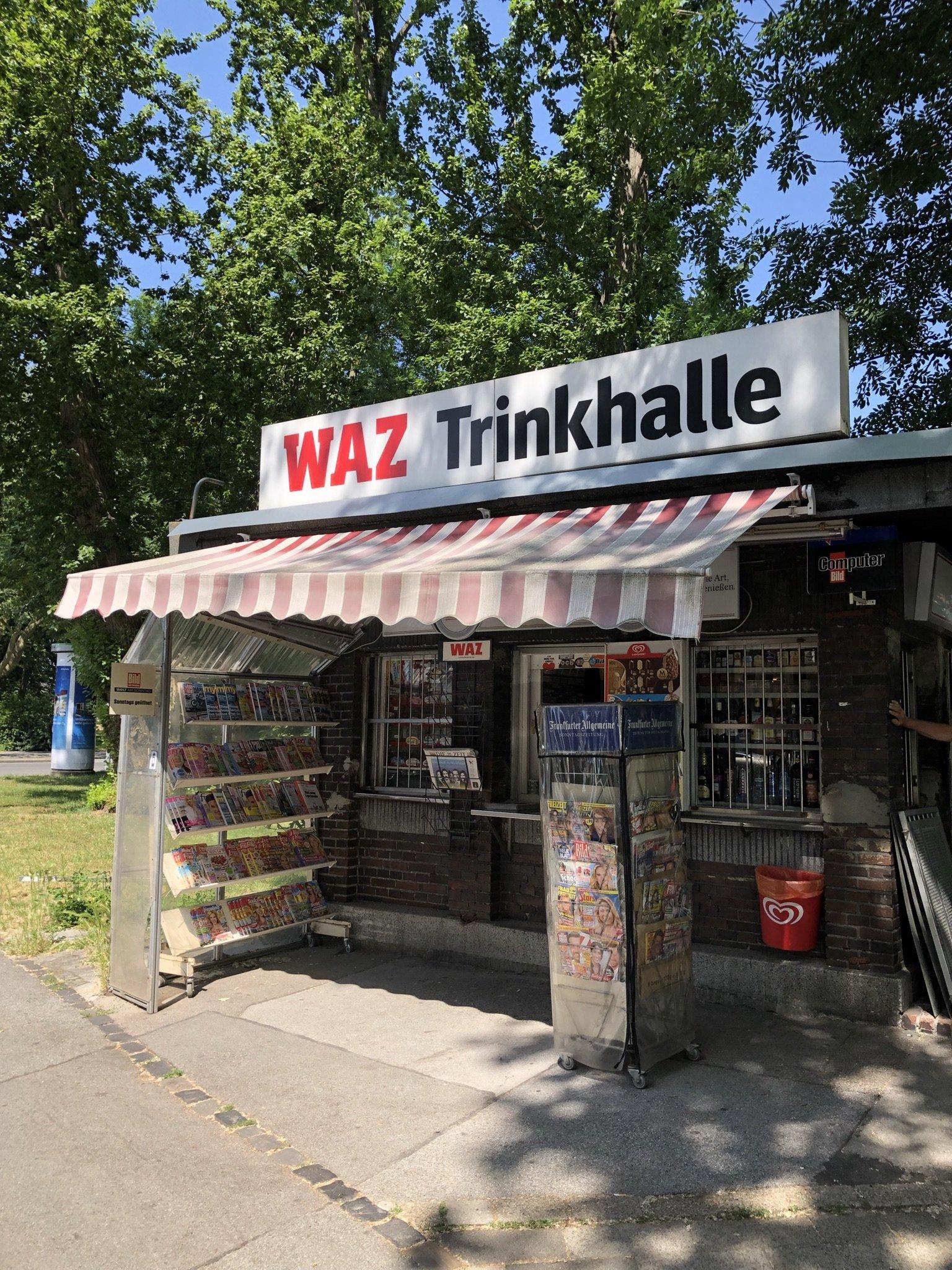 Hübsches Antlitz der WAZ Trinkhalle an der Zeppelinallee in Gelsenkirchen