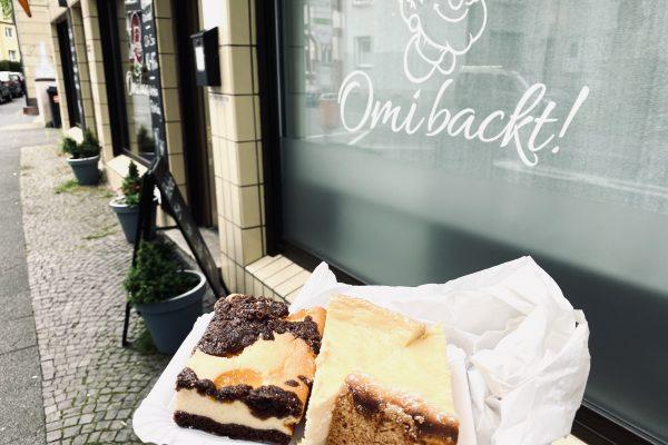 Das Foto zeigt Kuchen des Cafés Omi backt im Szeneviertel Bochum Ehrenfeld