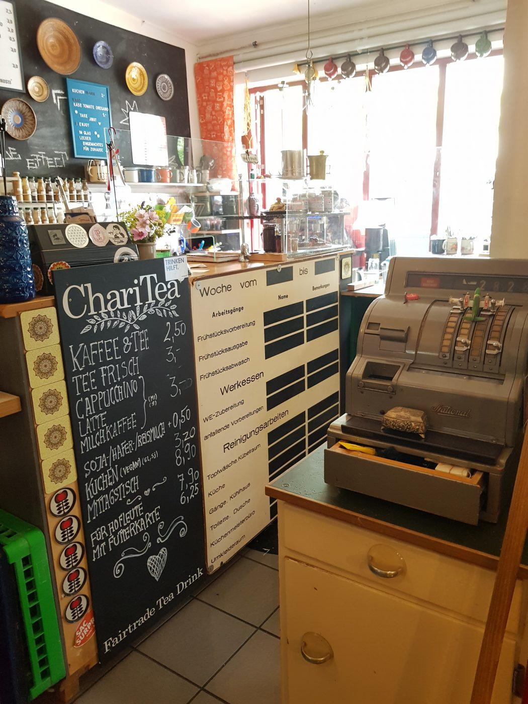 Das Foto zeigt den Innenraum des Hofcafés in Dortmund
