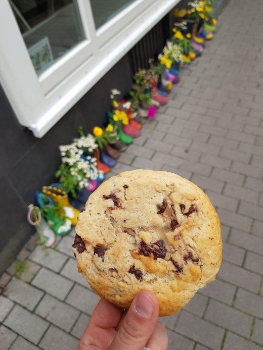 Das Foto zeigt einen Cookie des Café Rot in Dortmund