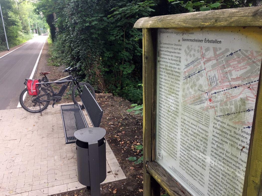 Das Foto zeigt die Springorumtrasse, eine der Bahntrassen im Ruhrgebiet