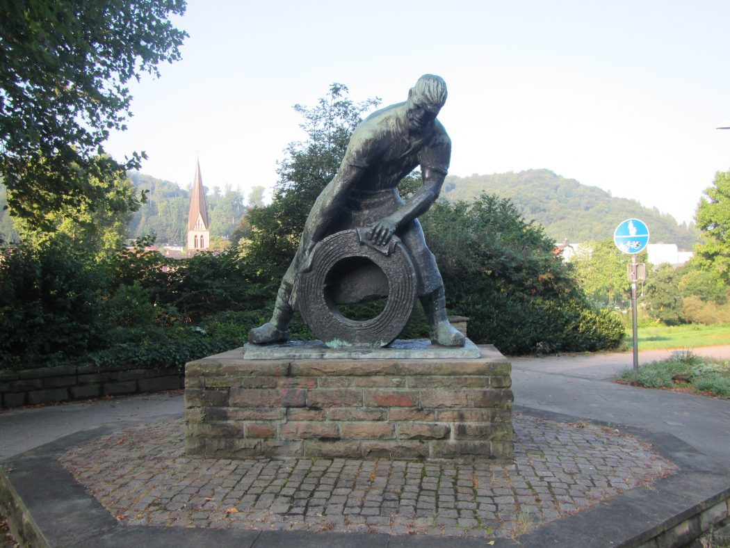Das Foto zeigt Zeugnisse der Schwerindustrie in Hohenlimburg