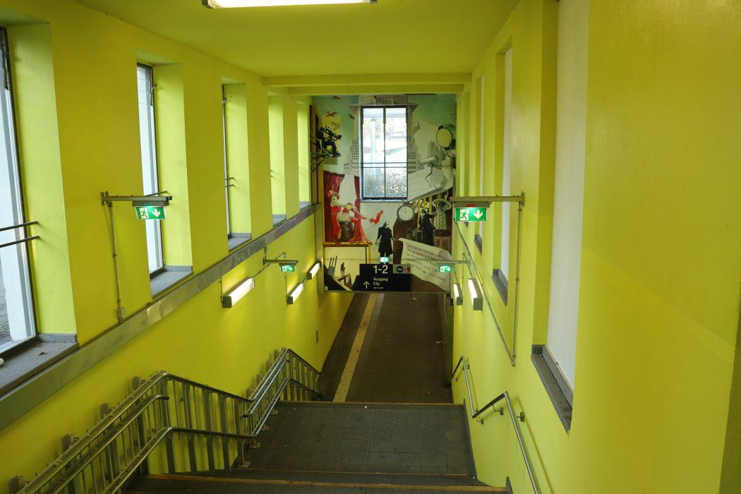 Das Foto zeigt den Bahnhof von Lünen