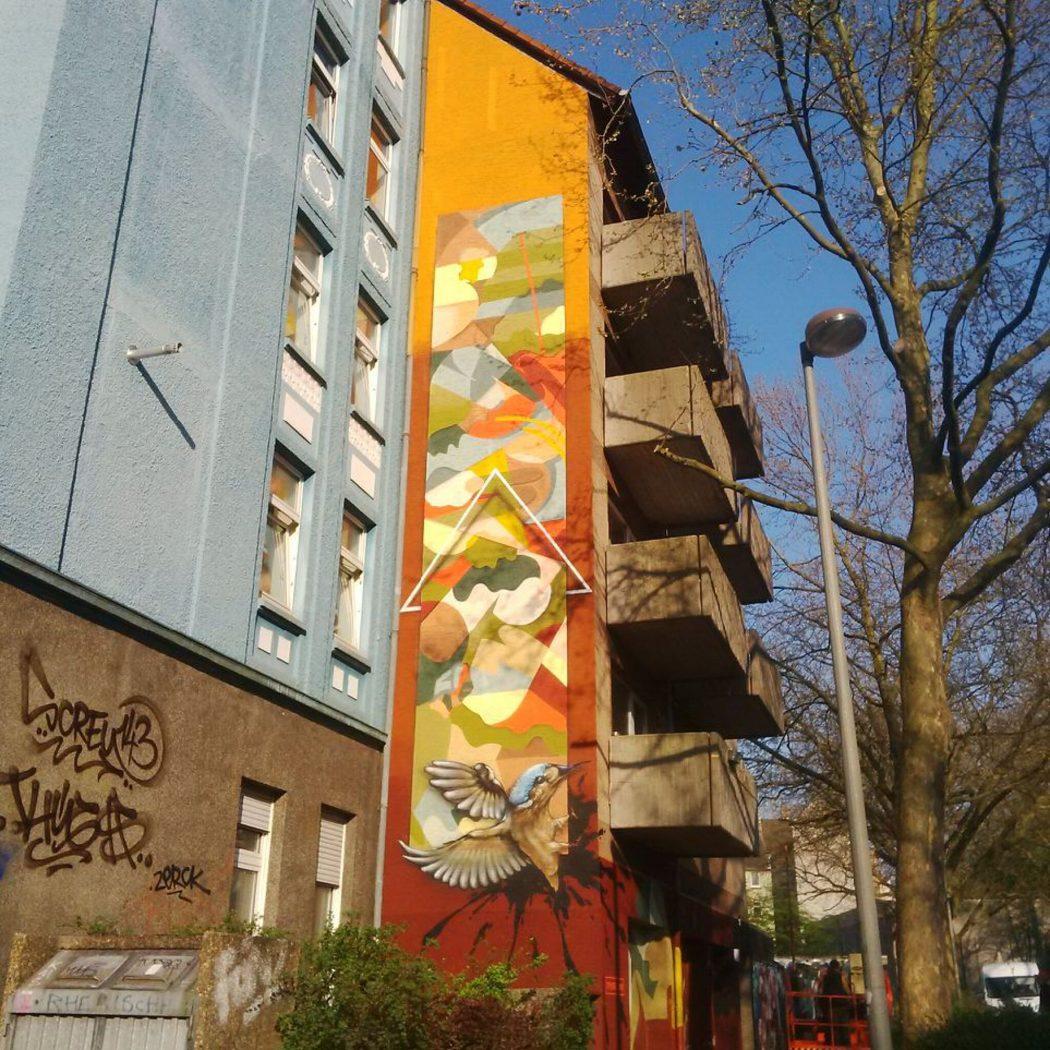 """Das Foto zeigt Street Art in Dortmund in Form des Murals """"Top Notch-Demon"""" von Telmo Miel aus den Niederlanden"""
