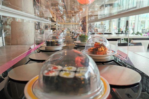 Das Foto zeigt das Sushi Band im Daikychi in Bottrop