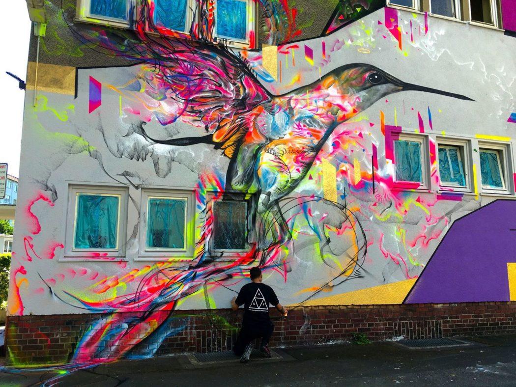 Das Foto zeigt Street Art in Dortmund in Form des Murals des brasilianischen Künstlers L7 Matrix