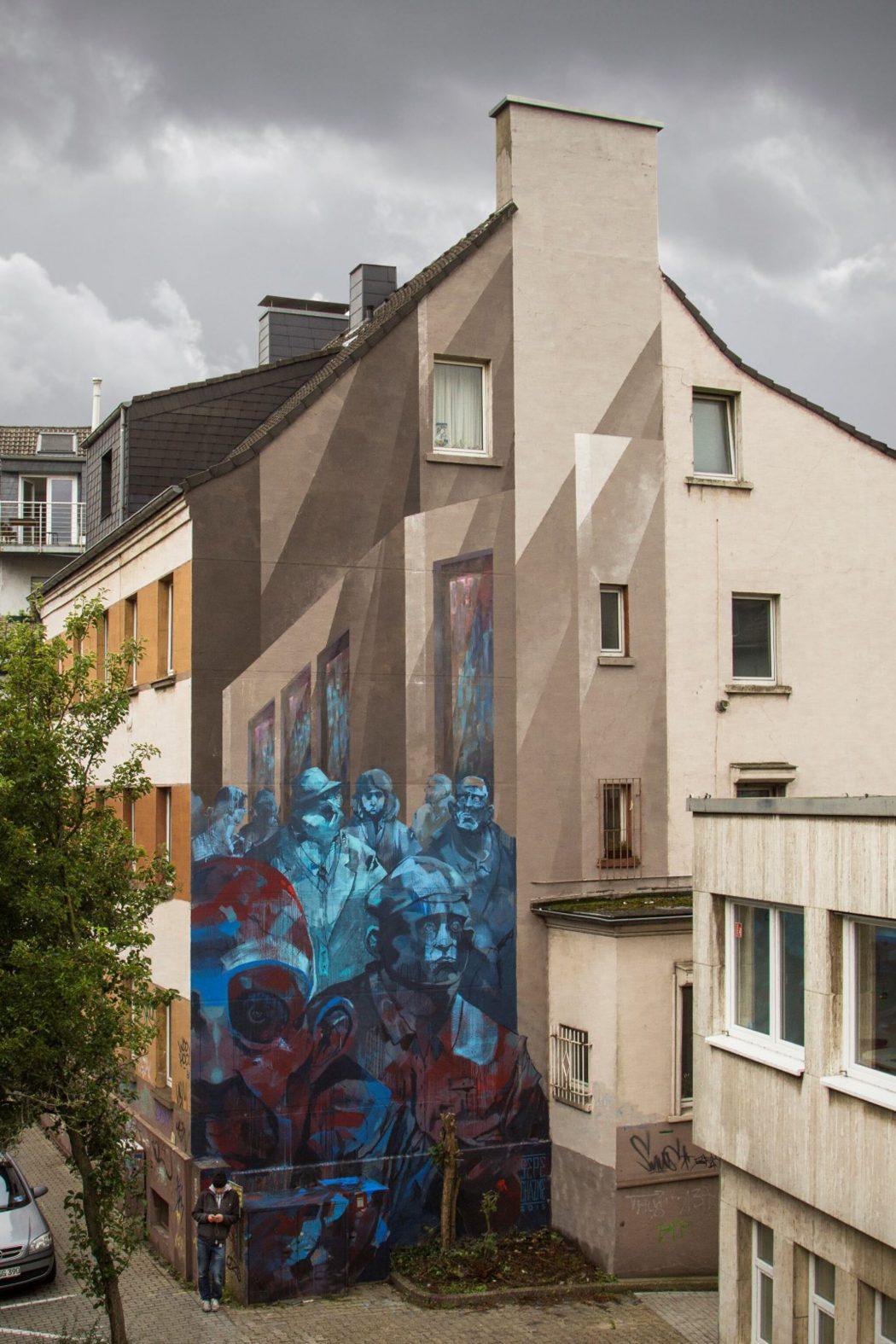 Das Foto zeigt Street Art in Dortmund in Form des Murals der polnischen Künstler Sepe & Chazme