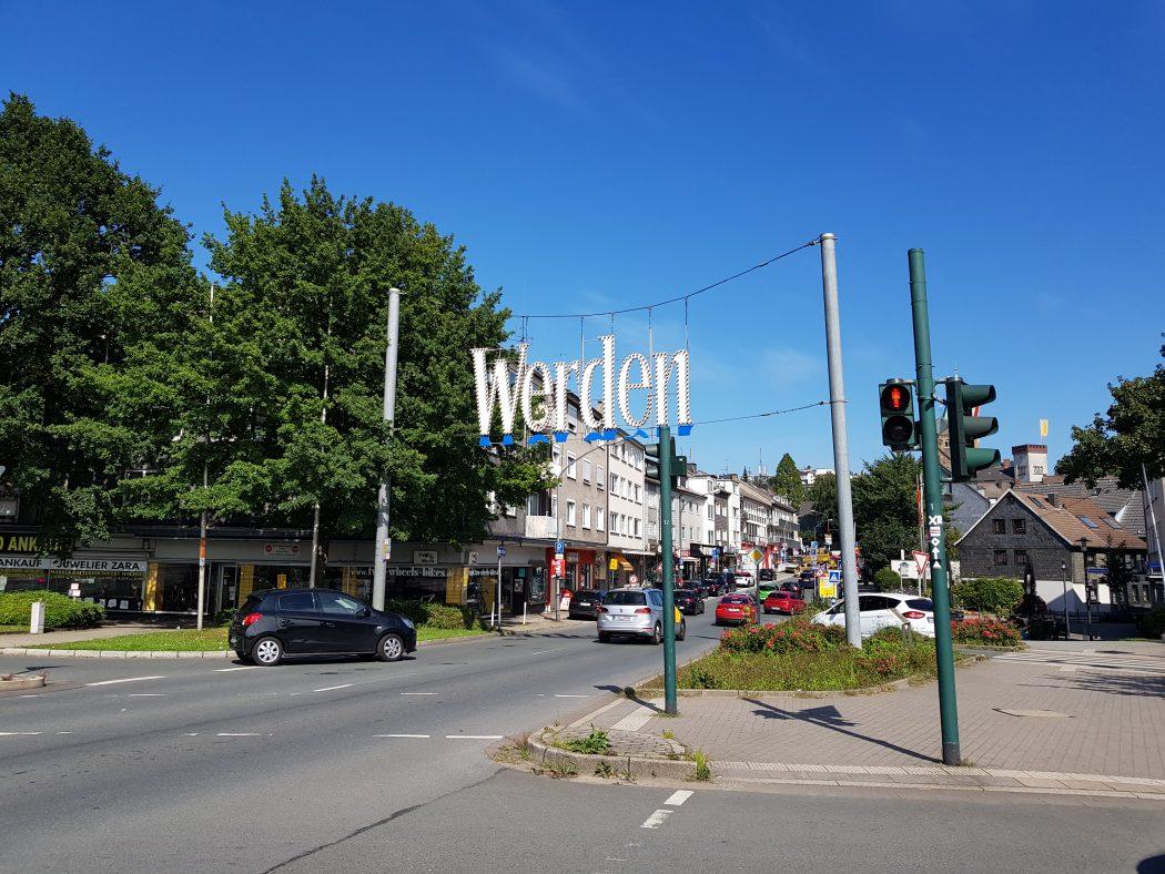 Das Foto zeigt das Zentrum von Essen-Werden