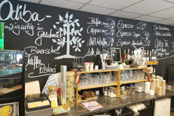 Das Foto zeigt das zweite ODIBA Café in der Innenstadt von Gelsenkirchen Buer