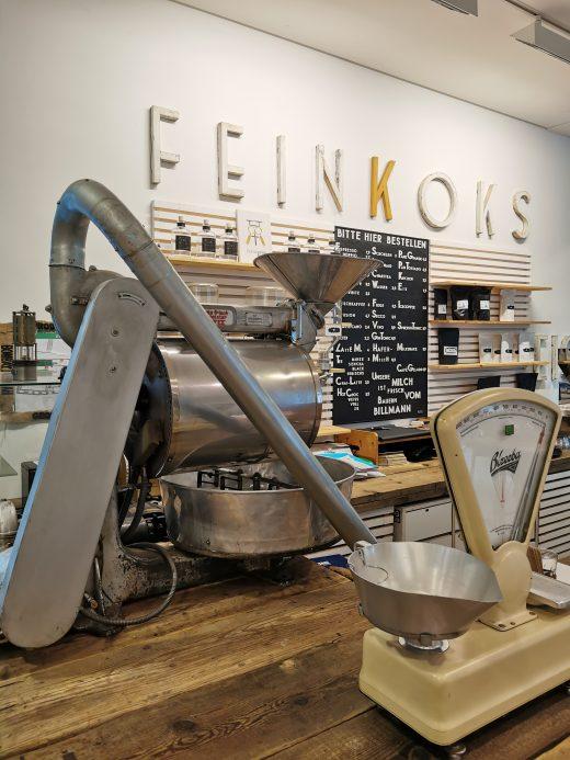 Das Foto zeigt den Trömmelröster der Kaffeerösterei Bristoteles in Bochum