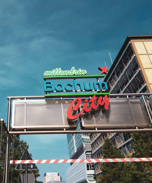 Das Foto zeigt die Innenstadt von Bochum