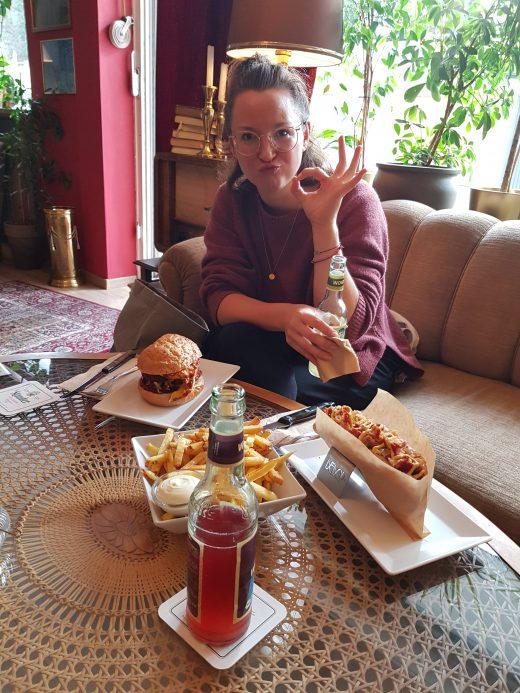 Das Foto zeigt Frauke im PAN's Bebop in Essen Rüttenscheid