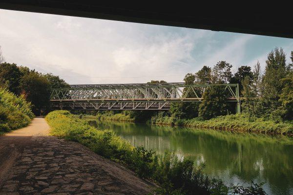 Das Foto zeigt den Rhein-Herne-Kanal